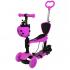 Skrejritenis ar stumšanas rokturi Scooter 5in1 rozā