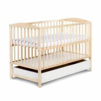 20 KLUPS RADEK II bērnu gulta ar atvilktni 120x60cm, priede
