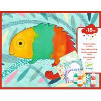 DJ09878 Djeco Krāsošana ar pirkstiņkrāsām - Krāsainās radības