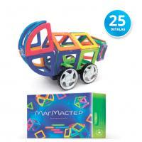 """MM25 MagMaster """"Auto-Moto"""" Magnētisko Elementu Konstruktors ar 25 detaļām priekš bērniem 3+"""