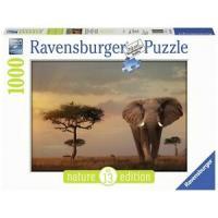 R 15159 Ravensburger Puzzle Pan 1000 Elephant of the Masai Mara
