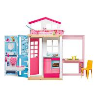 DVV47 Barbie 2-Story House divstāvu leļļu māja ar aksesuāriem