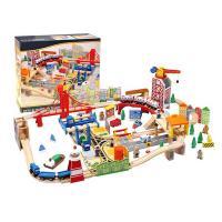 1800 Koka rotaļu vilciena komplekts Pilsēta