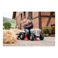 Bērnu traktors ar pedāļiem ar piekabi 014941 KID Little Grey Fergie (2,5-5 gadiem) Vācija