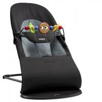 BABYBJÖRN - Babybjorn Bouncer Balance Soft - Black / Dark grey + toy   šūpuļkrēsls