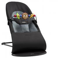 BABYBJÖRN - Babybjorn Bouncer Balance Soft - Black / Dark grey + toy   šūpuļkrēsls